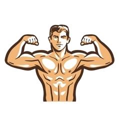 Gym logo bodybuilder bodybuilding vector