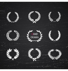 hand drawn laurel wreath vector image