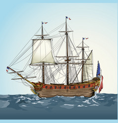 Historic ship vector