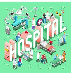 Hospital 01 Concept Isometric vector
