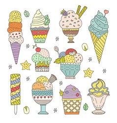 Ice Cream Collection vector image