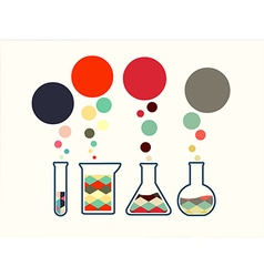 Icon beaker vector