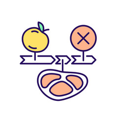 Intermittent fasting diet rgb color icon vector