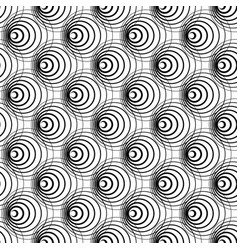 Intersecting circles abstract monochrome vector