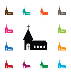 Isolated cross icon chapel element can be vector