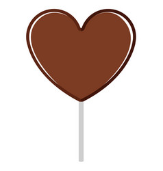 isolated heart shaped chocolate marshmallow icon vector image