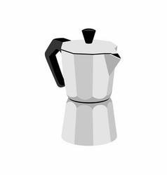 italian espresso machine isolated on white backgro vector image