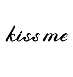 Kiss me lettering Cute handwriting vector image