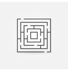 Labyrinth minimal icon vector image