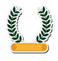 laurel wreath emblem icon vector image