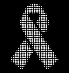 mourning ribbon halftone icon vector image