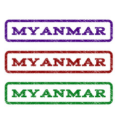 Myanmar watermark stamp vector