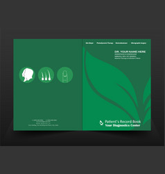 patients record book or folder vector image