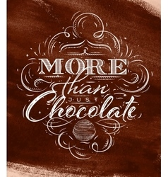 Poster chocolate brown vector