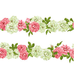 Realistic pink rose 3d seamless roses vector
