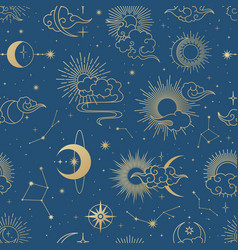seamless galaxy pattern vector image