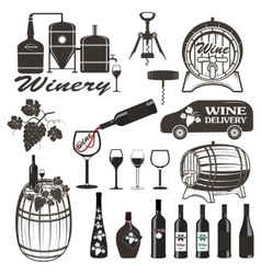 Set of wine signs badges vector image