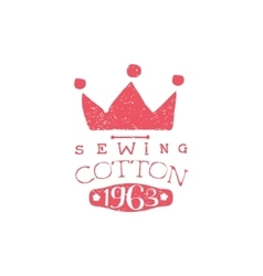 Sewing Cotton Vintage Emblem vector image