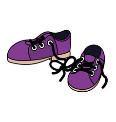 Shoes clothing cartoon vector