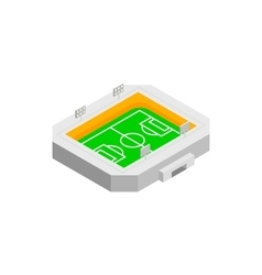 Soccer field isometric 3d icon vector