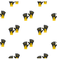 Soccer goalkeepers gloves pattern seamless vector