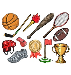 sport objects vector image