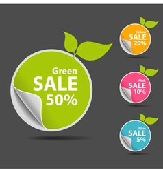 Sticker price tag vector image