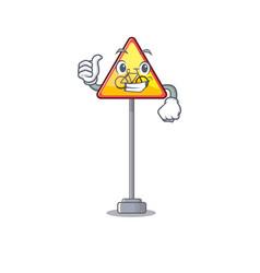Thumbs up no cycling character shaped a mascot vector