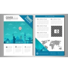 Travel information cards Travel and Tourism vector image