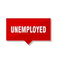 Unemployed red tag vector