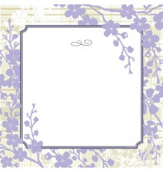 Vector lilac blossom background vector
