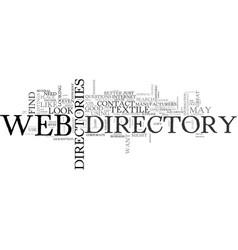 web directories text word cloud concept vector image
