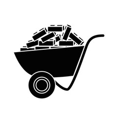 Wheelbarrow tool icon vector