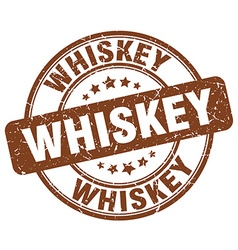 Whiskey brown grunge round vintage rubber stamp vector