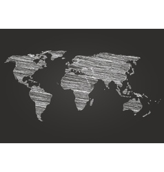 World Map Globe line Sketch vector