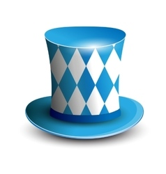 Bavaria hat oktoberfest background bavarian flag vector