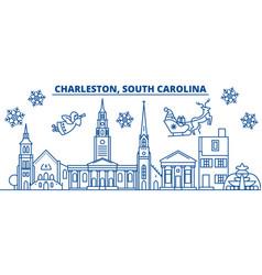 usa south carolina charleston winter city vector image vector image
