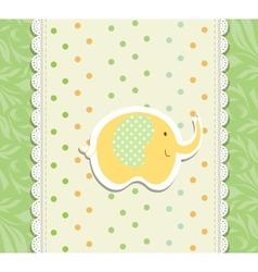 Vintage doodle elephant for frame wallpaper vector image vector image
