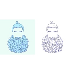 beard god neptune vector image vector image