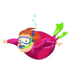Cheerful Chubby Man vector image