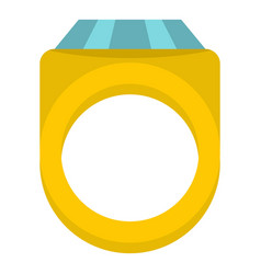 Diamond ring icon isolated vector