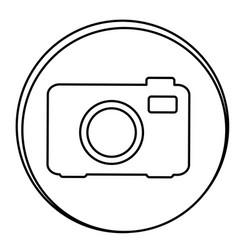 figure camera emblem icon vector image