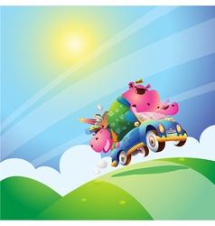 Hippo family vector