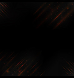 orange digital light line on dark background vector image