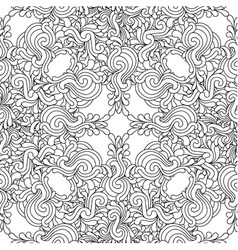 Seamless decorative zentangle graphic pattern vector image