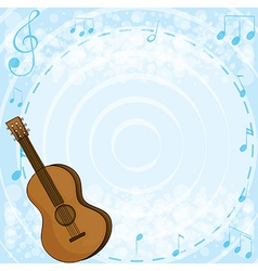 A brown classical guitar vector image