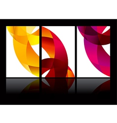 abstract background set EPS10 vector image