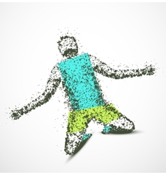 Abstract man vector image vector image
