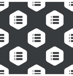 Black hexagon numbered list pattern vector