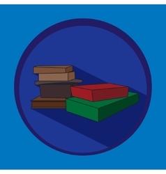 books in flat design vector image